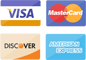 images of Visa MasterCard Discover and American Express credit cards